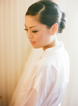 Bride in Custom Robe