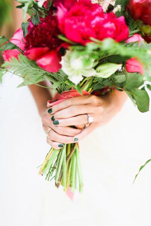Bride in Emerald Nail Polish