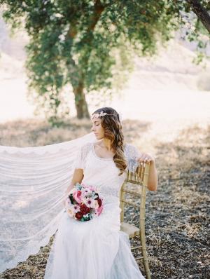 Bride in Flowing Veil