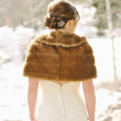 Bride in Fur Stole