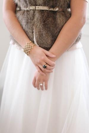 Bride in Fur Vest
