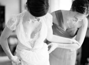 Bride in Jenny Packham Gown