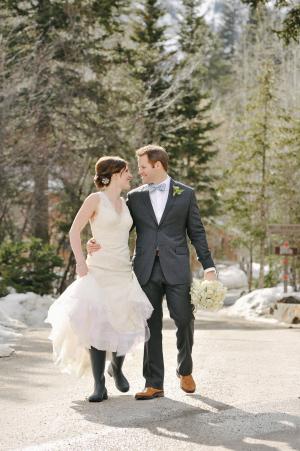 Bride in Rain Boots