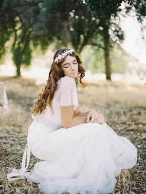 Bride in Romantic Wedding Dress