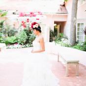 Bride in Vera Wang