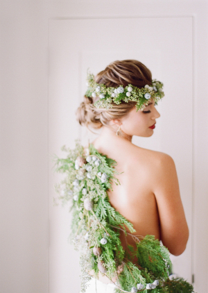 Bride with Greenery Garland