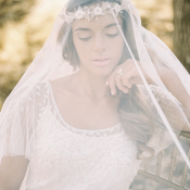 Bride with Veil Covering