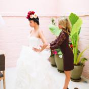 Bridesmaid in Purple Lace