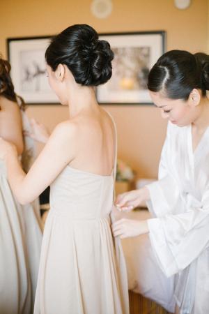 Bridesmaid in Taupe