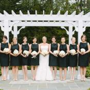 Bridesmaids Black Sheath Dresses