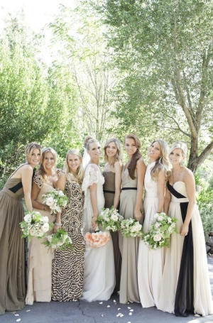 Bridesmaids in Neutral Color Palette