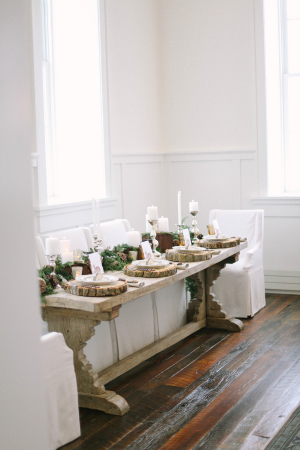 Brown and Ivory Winter Wedding