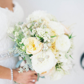 Butter Yellow and Ivory Bouquet