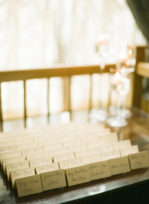 Calligraphy Place Cards Reception Ideas
