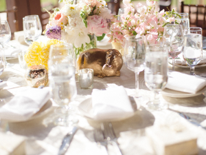 Centerpiece with Gold Animals