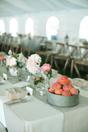 Centerpiece with Peaches