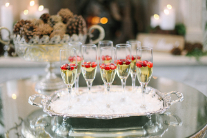 Champagne on Silver Tray