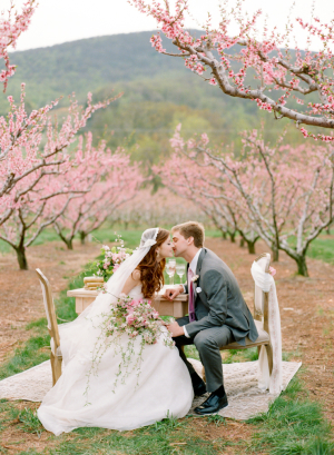Cherry Blossom Orchard Wedding Inspiration