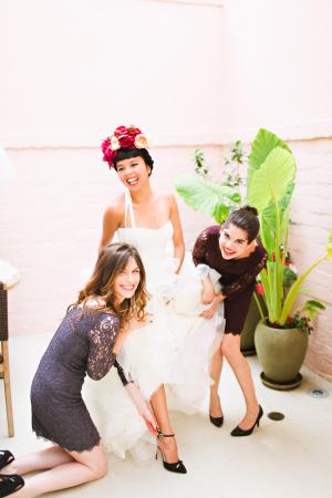 Chic Lace Bridesmaids Dresses