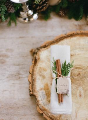 Cinnamon Stick in Napkin