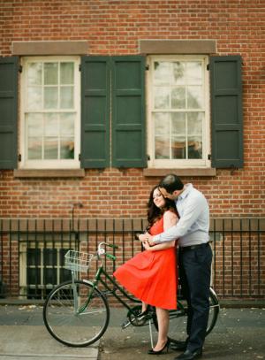 Couple on Vintage Bike