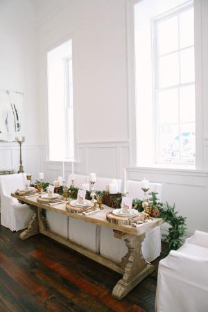 Cozy Winter Wedding Tabletop