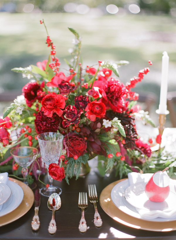 Crystal and Gold Place Settings