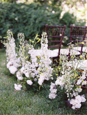 DIY Wildflower Wedding Aisle
