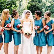 Dark Turquoise Bridesmaids Dresses