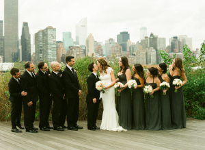 Deep Gray Bridesmaid Dresses
