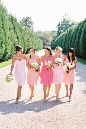 Ombre Pink Donna Morgan Bridesmaids Dresses