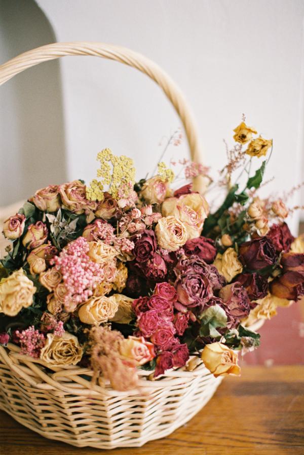 Dried Florals in Basket