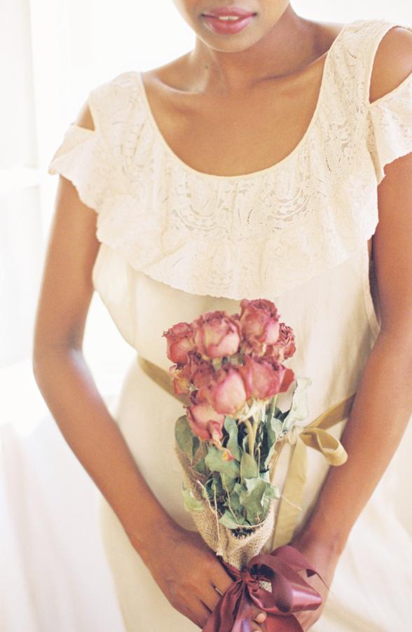 Dried Rose Bridal Bouquet