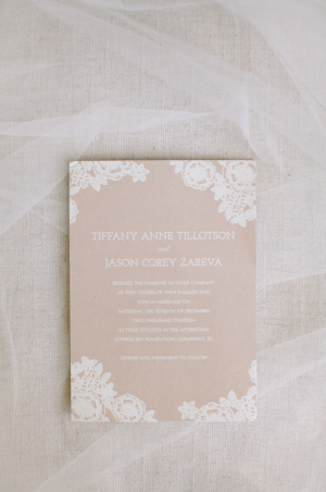 Ecru and Cream Wedding Stationery