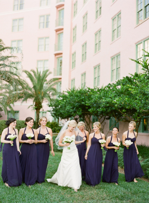 Eggplant Bridesmaids Dresses