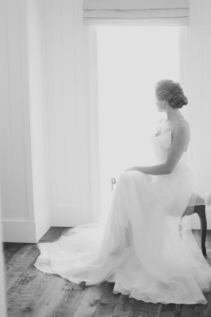 Elegant Black and White Bridal Portrait Jacque Lynn