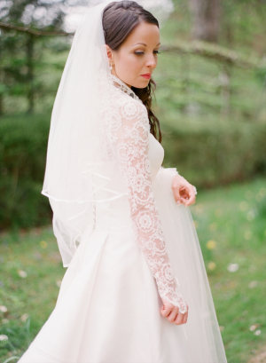Elegant Bride in Lace