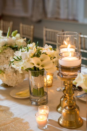 Elegant Gold and Cream Reception Ideas