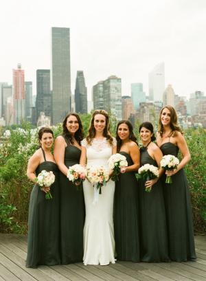 Elegant Olive Bridesmaids Dresses
