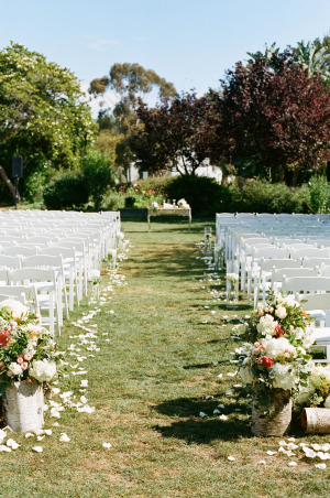 Elegant Outdoor Wedding Aisle