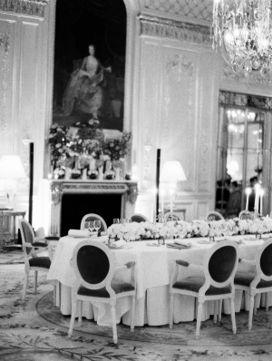 Elegant Paris Wedding Reception