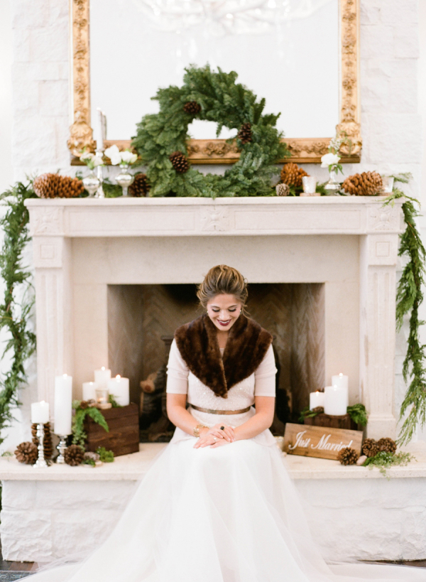 Elegant Rustic Winter Wedding Bride