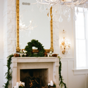 Elegant Rustic Winter Wedding Decor