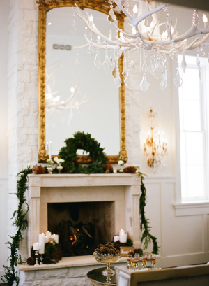 Elegant Rustic Winter Wedding Decor