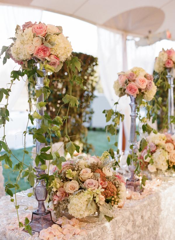Beau Enchanted Garden Inspired Centerpiece