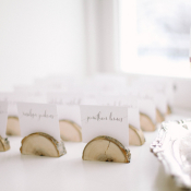Escort Cards in Wood