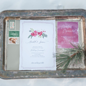 Floral Watercolor Wedding Stationery