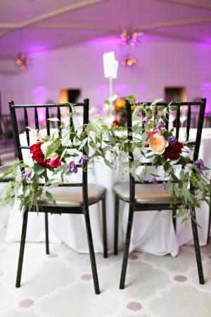 Floral Wedding Chair Garland