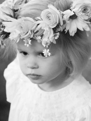 Flower Girl in Floral Wreath