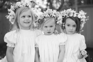 Flower Girls in Wreaths